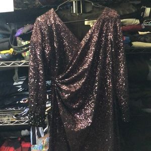 Gently used full length sequined dress